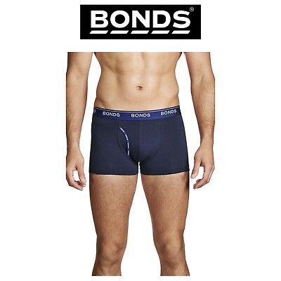 Mens Bonds Guyfront Trunk Cotton Stretch Seamfree Charcoal Classic Sport MZVJ