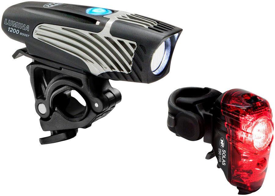 NiteRider Lumina 1200 Boost Headlight Bike Light Lumen  Solas 250 Taillight USB