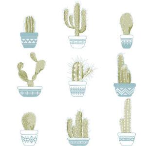 Essener Tapete 5669 Cactus Friends Coffee Fleece Wallpaper