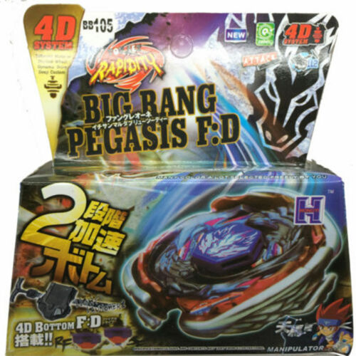 Pegasis Metal Fury Masters Beyblade Set w Launcher NIP Big Bang Cosmic Pegasus