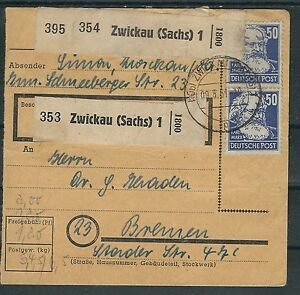 Sbz-DDR magnifique MIF avec mi. Nº 219-224 u. rda 253 sur paquet carte à partir de zwickau-afficher le titre d`origine dMYoYwhU-07163552-656881065