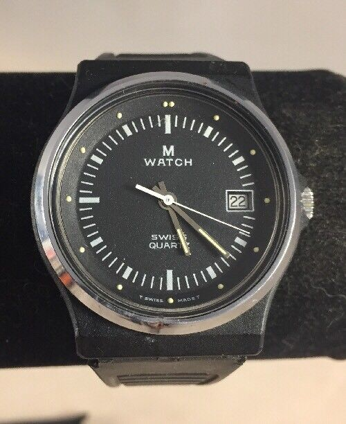 Buy Vintage M Watch Mondaine Watch Ltd M-7606.550 Swiss Quartz Watch 35mm  online  2ea64117e1
