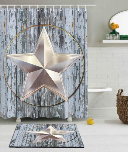 Special Design Bath Western Texas State Star Polyester Bathroom Shower Curtain