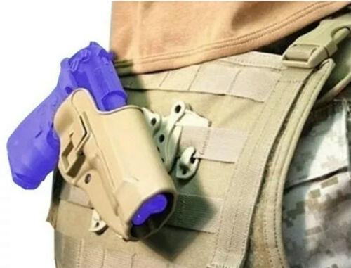 Tactical Right Waist Hand Belt Holster for Beretta 92 96 M9 w// Molle Platform