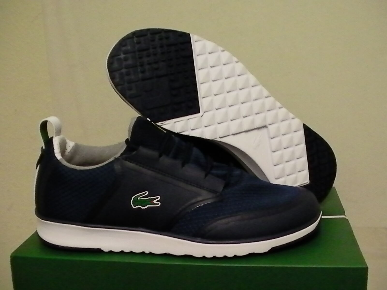 Lacoste shoes L.IGHT LT12 spm txt/syn dark blue training size 9.5 new with box Scarpe classiche da uomo