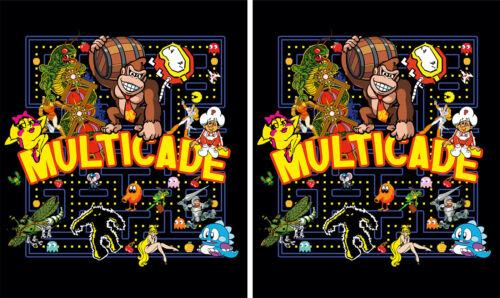 Mame Multicade Classics Side Art Arcade Cabinet Graphics Decals Stickers Set