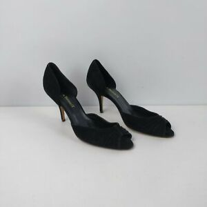 WOMENS-L-K-BENNETT-BLACK-SUEDE-PEEP-TOE-SLIP-ON-HIGH-HEELS-SHOES-UK-6-EU-39