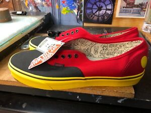 911fac8e72 Image is loading Vans-Authentic-Disney-Mickey-Red-Yellow-90th-Anniversary-
