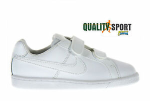 check out 876d3 a47dd Image is loading Nike-Court-Royale-White-Baby-Shoes-Sports-Sneakers-