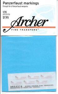 Archer Dry Transfers, Panzerfaust Markings 1/35 AR35216 ST