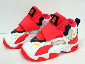 Nike-Air-Speed-Turf-Hi-Top-Girl-PS-White-Laser-Orange-Red-Sz-7c