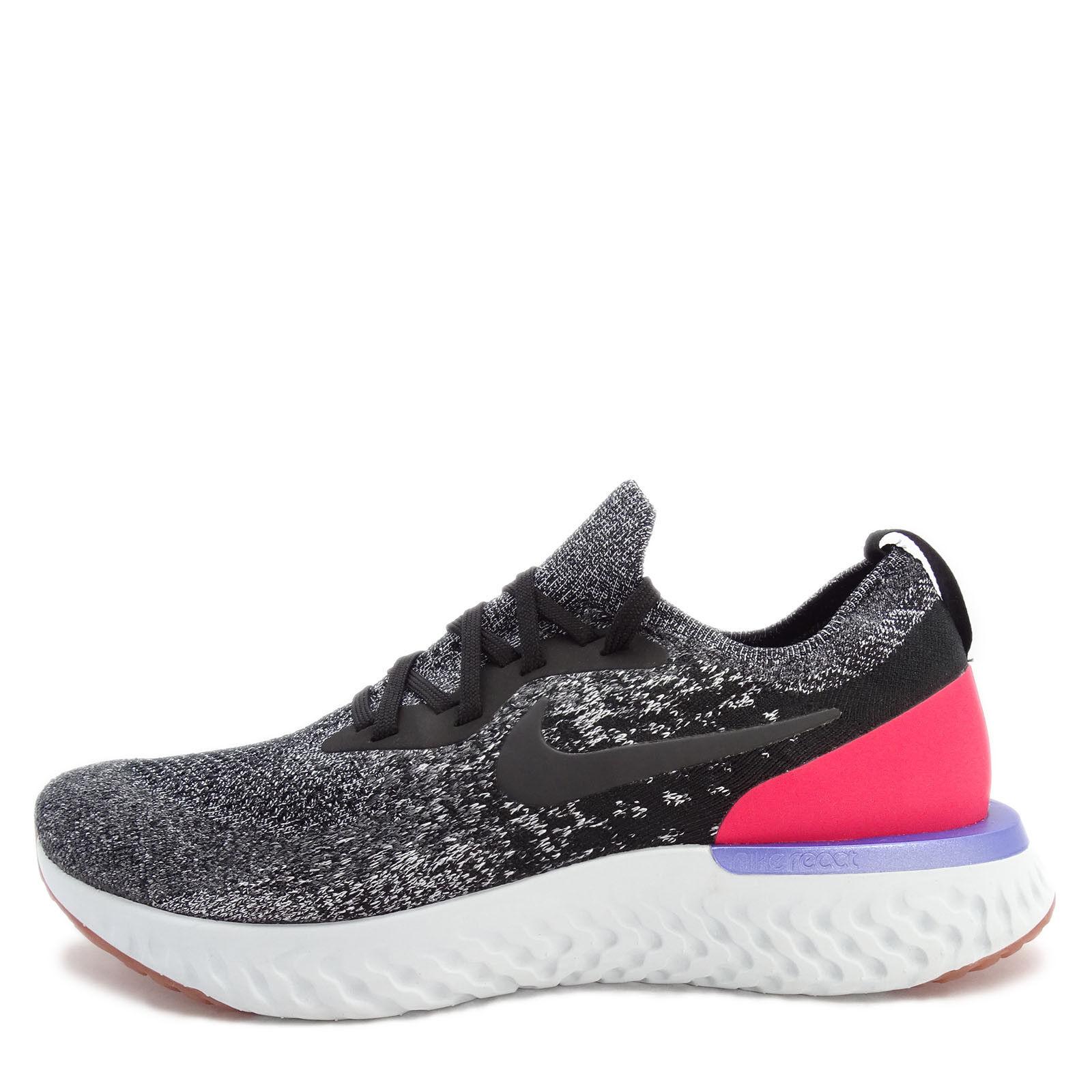 Nike Epic React Shoes Flyknit [AQ0067-006] Men Running Shoes React Black/White-Red Orbit 677f06
