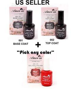 Salon top and base coat uv led soak off gel nail polish - Base coat nail salon ...