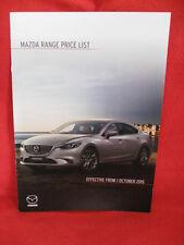 MAZDA Range UK Price List - Effective from 1/10/2015.