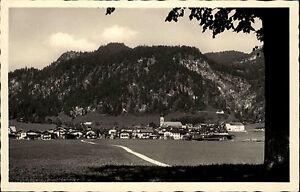 Reit im Winkl s/w Postkarte 1952 Gesamtansicht Panorama mit Blick auf  Hausberg