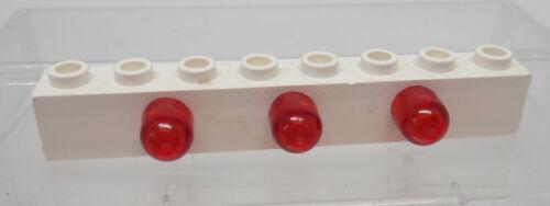 Lego Lichstein 1x8 weiß mit Kappen rot 4733 Zubehör Baukästen & Konstruktion LEGO Bau- & Konstruktionsspielzeug