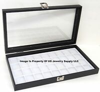 Wholesale Lot Of 6 Glass Top White 36 Space Jewelry Display Cases Pins Charms