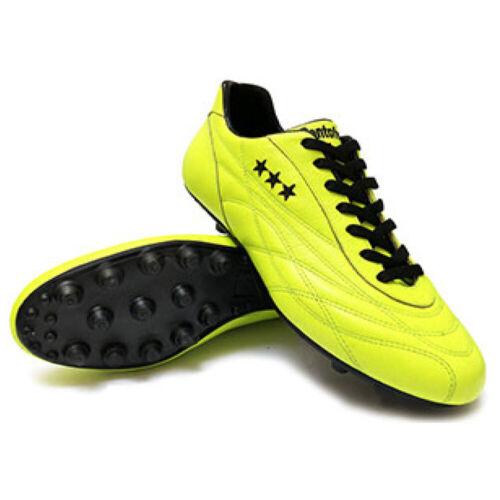 Scarpa Calcio Artigianale Pantofola D/'oro New Star Vitello Giallo Fluo Pc2334-03