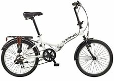 "Folding Bike Viking Metropolis 20"" Wheel 6 Speed Folder Bicycle White"
