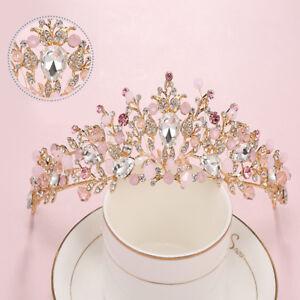 Fashion-Baroque-Flower-Crystal-Crown-Tiaras-Bridal-Wedding-Hair-Jewelry-Headband