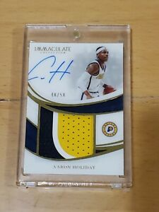 2018-Immaculate-Aaron-Holiday-RC-Auto-True-RPA-3-Color-Patch-50-Top-Card-Rookie