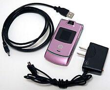 Motorola Razr V3m V3 VERIZON Cell Phone Razor PINK razer flip camera microSD -C-