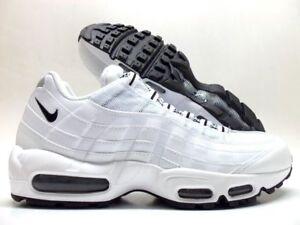 Dettagli su Air Max Nike '95 Scarpe da Corsa BiancoNero Nero UOMO 609048 109 Taglie 13