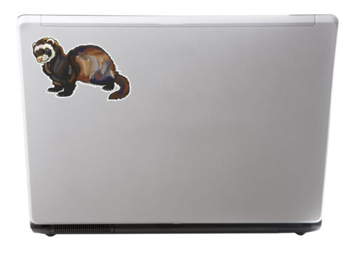 2 x 15cm Ferret Vinyl Decal Sticker Laptop Car Bike Animal Kids Fun Gift #5851