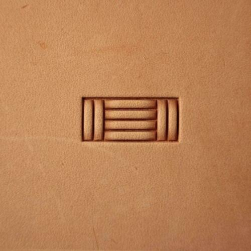 Brick leather crafting stamp tool crafts brass stamps Basket Weave #316