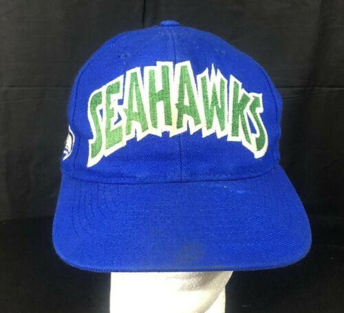 Vintage Seattle Seahawks Annco Snapback Hat Cap L… - image 1