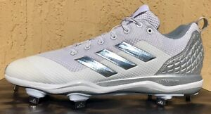 acb984fe663 Mens Adidas Power Alley 5 Baseball Cleats Size 8 8.5 9 9.5 10 WHITE ...