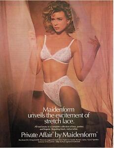 e4b5cf80ae Image is loading 1986-Sexy-Woman-MAIDENFORM-Bra-amp-Panty-Magazine-