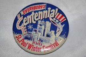 Vintage-Saint-St-Paul-Minnesota-1976-Centennial-Winter-Carnival-Button