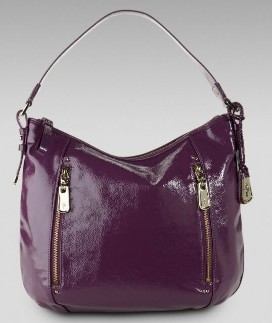 Cole Haan Parker Es Medium Hobo Patent Leather Bag Handbag Berry Nwt 298
