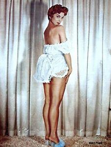 Debra-Paget-1955-Vintage-Pinup-Litho-Bruno-Bernard-Photo-Publicity-Promo-COA