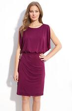 NEW $138 Eliza J 'Beaded Bloused' Jersey Dress  (Size 2) Berry