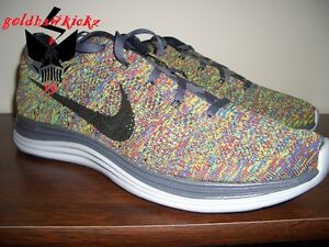 ca8612b4e9bf ... discount image is loading nike flyknit lunar 1 multi color racer htm  703c2 e6ca1