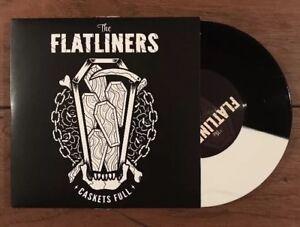 The-Flatliners-Caskets-Full-Black-White-Color-7-034-Vinyl-Fat-Wreck-Chords-Nofx