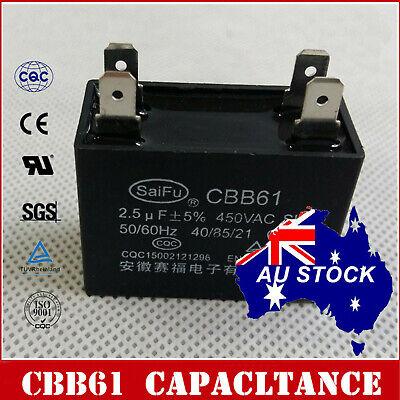 CBB61 Appliance Motor Start Run Capacitor 2.5uF 450VAC 50//60Hz  OZ SELLER