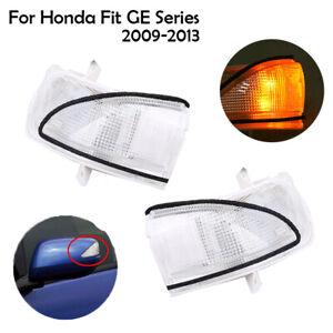 Pair Mirror LED Turn Signal Indicator Light For Honda Jazz 2009-2013 Left+Right