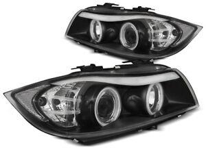 Paire-de-feux-phares-BMW-serie-3-E90-E91-05-08-angel-eyes-CCFL-noir-MH7