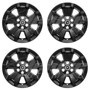 "17"" Black Wheel Skins Hubcaps FOR 2015 2016 2017 2018 Chevrolet Colorado LT"
