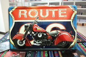 American chopper indian motorcycle bike tin sign car garage route 66 metal art ebay - American motorbike garage ...