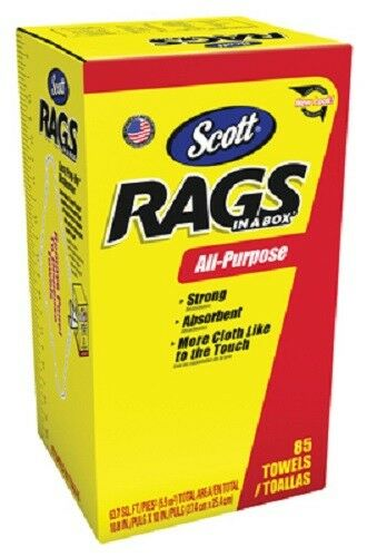Pop Up Box White Rag In A Box Scott Rags 85 Pack Kimberly Clark