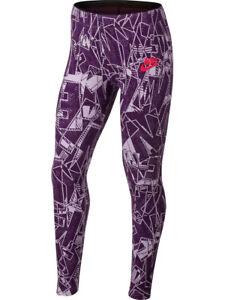 5249ec04f3805 Image is loading Nike-Girls-Sportswear-Mashup-Printed-Tight-Pants-Leggings-