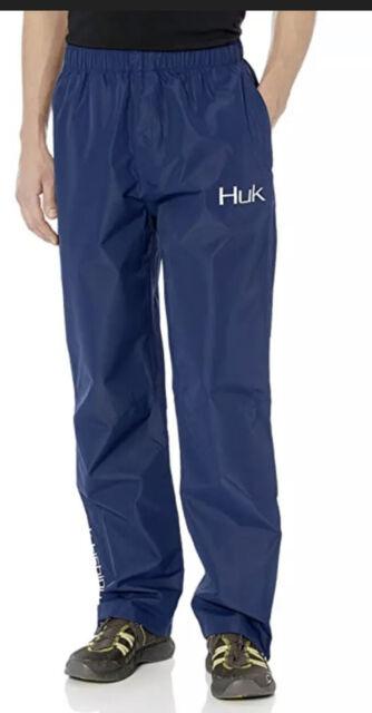 NEW HUK Performance Fishing CYA Packable WATERPROOF Rain Pants Black Size 2XL