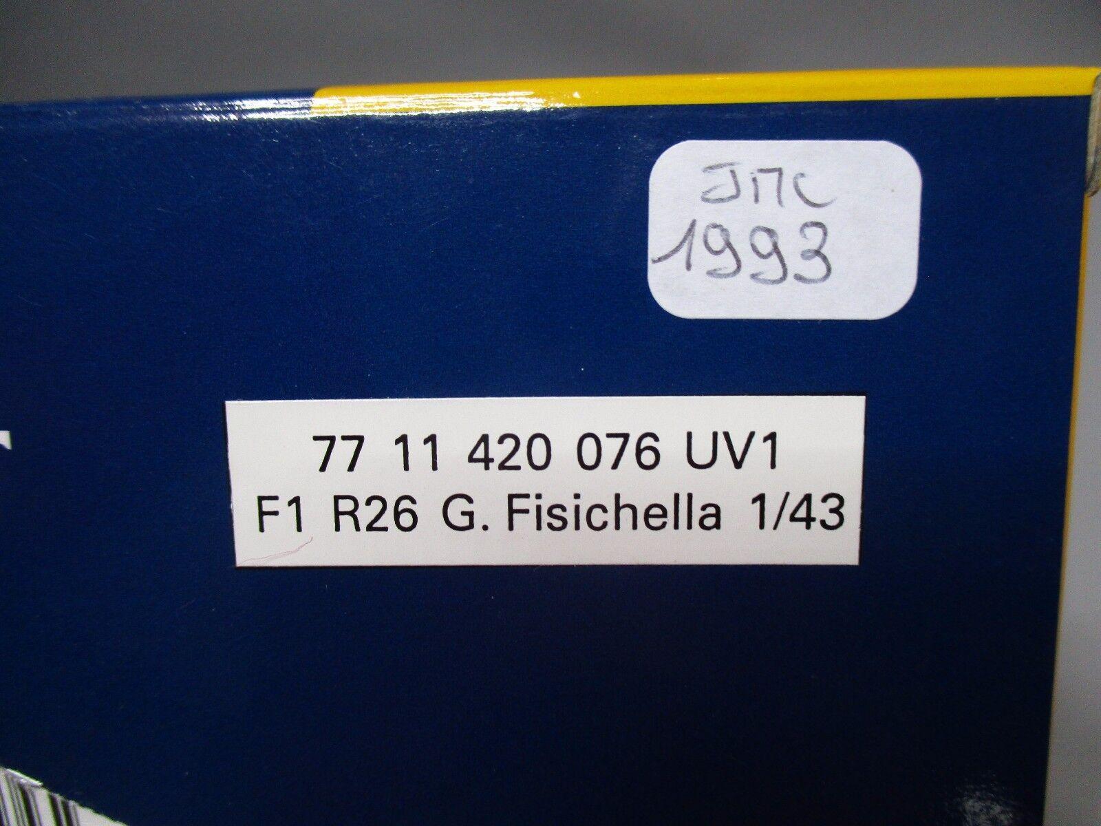 DV7630 UNIVERSAL HOBBIES UH RENAULT R26 2006 FISICHELLA    2 7711420076 1 43 NB 0d8790