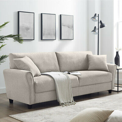 Sofa Modern Linen Living Room Couch