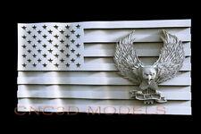 3D STL Model for CNC Router Carving Artcam Aspire USA Flag America Eagle D624