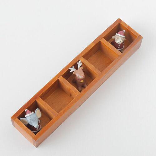 Retro Stil Tabletop Storage Organizer Caddy 5 Fach Dekor aus Holz